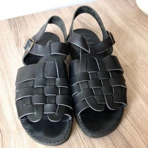 Italian Leather Huarache Sandals